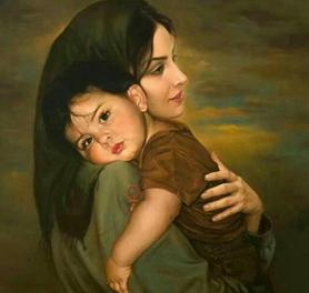 مادر مظهر عشق و محبت